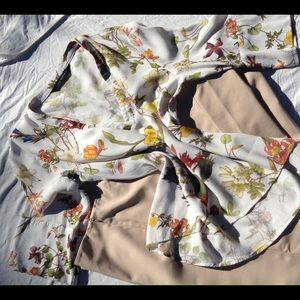 Zara botanical blouse
